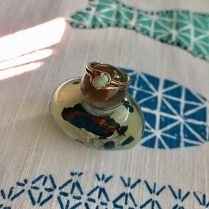 Vintage 14k Gold Opal Ring Sz 5
